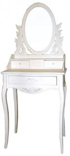 Casa Padrino Schminktisch Shabby Chic Landhaus Stil Look Weiß