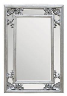 Casa Padrino Barock Wandspiegel Silber H 96 cm B 66 cm - Edel & Prunkvoll - Spiegel Silberfarben - Vorschau