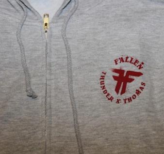 Fallen Skateboard Pullover Hoodie Zip Grey sweater - Vorschau 2