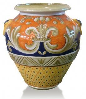 Casa Padrino Luxus Barock Terracotta Vase Mehrfarbig - Verschiedene Größen - Prunkvolle handgefertigte & handbemalte Blumenvase - Barock Deko Accessoires