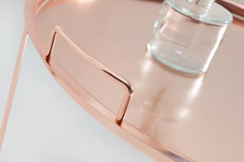 Casa Padrino Luxus Couchtisch Klappbar - Tablett Kupfer B.56 cm x H.48 cm x T.56 cm - Wohnzimmer Salon Tisch - Vorschau 5