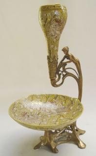Casa Padrino Barock Porzellan Schale mit Blumenvase - Luxus Restaurant Kollektion