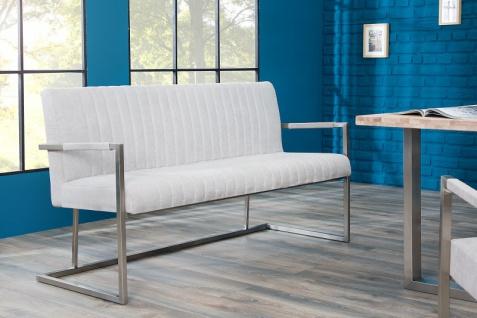 Casa Padrino Designer Sitzbank Stone Grau Breite 160 cm, Höhe 80 cm - Vorschau 4