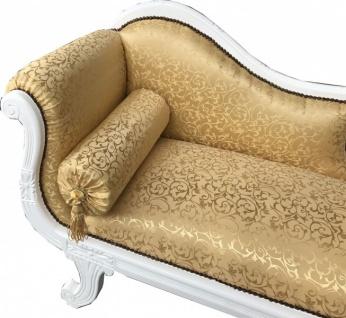 Casa Padrino Barock Chaiselongue Modell XXL Gold Muster / Weiß - Recamiere Wohnzimmer Möbel - Vorschau 2