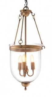Casa Padrino Luxus Laterne - Luxus Messing Hängeleuchte Durchmesser 32 x H 70 cm - Vorschau 1