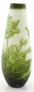 Casa Padrino Luxus Glas Deko Vase Blumen Grün / Weiß Ø 18, 5 x H. 49, 2 cm - Cameoglas Blumenvase - Vorschau 2