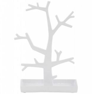 Casa Padrino Designer Schmuckhalterbaum groß weiß lackiert aus Aluminium, Höhe 32 cm, Breite 22 cm - Schmuckständer, Schmuckbaum - Vorschau 2