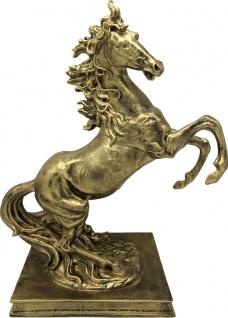 Casa Padrino Skulptur Wildes Pferd Gold H 45 x 35 x 20 cm - Figur Dekoration Barock