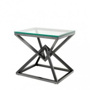 Casa Padrino Luxus Beistelltisch Edelstahl Bronze Finish 65 x 50 x H 60 cm - Tisch Möbel