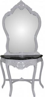 Casa Padrino Barock Spiegelkonsole mit Marmorplatte Weiss Mod2 - Antik Look