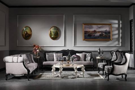 Casa Padrino Luxus Barock Wohnzimmer Set - 2 Sofas & 2 Sessel & 1 Couchtisch - Wohnzimmermöbel im Barockstil - Edel & Prunkvoll - Luxus Qualität - Made in Italy