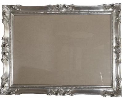 Casa Padrino Barock Holz Bilderrahmen 144 x 84 cm Silber - Großer Bilder Rahmen Foto Rahmen Jugendstil Antik Stil - Made in Italy