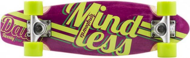Mindless Stained Daily Oldschool Skateboard Wood Cruiser Komplettboard Purple / Green - Old School Complete Skateboard mit Koston Kugellagern