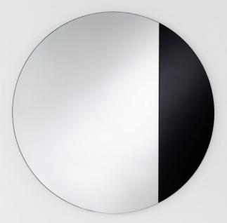 Casa Padrino Luxus Spiegel Schwarz Ø 58 cm - Designermöbel & Accessoires