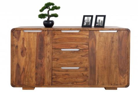 Casa Padrino Fernsehkommode 145 cm - Fernsehschrank - Sideboard - Handgefertigt aus Massivholz!