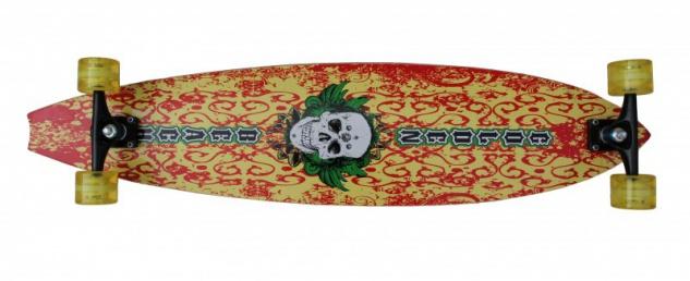 "Koston Pintail Freeride Longboard Hawaii Skull 9.75 x 42"" Cruiser - High End Profi Longboard"