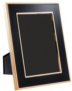 Casa Padrino Tisch-Bilderrahmen 6er Set Schwarz / Gold 17, 5 x H. 23 cm - Luxus Deko Accessoires