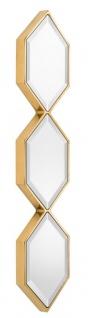 Casa Padrino Designer Wandspiegel Gold 25 x H. 110 cm - Luxus Wohnzimmer Spiegel