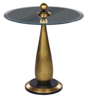 Casa Padrino Luxus Bistrotisch Gold / Schwarz Ø 60 x H. 72 cm - Runder Stehtisch