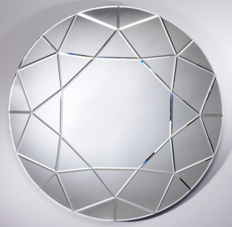 Casa Padrino Designer Wohnzimmer Spiegel Ø 90 cm - Designer Kollektion