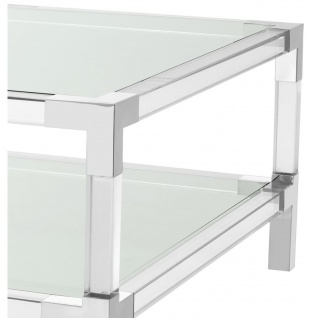 Casa Padrino Couchtisch 100 x 100 x H. 45 cm - Luxus Designer Möbel - Vorschau 3