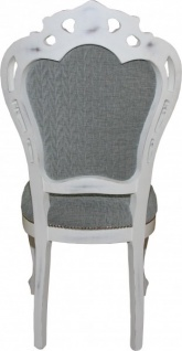 Casa Padrino Barock Esszimmer Stuhl ohne Armlehnen Grau / Antik Weiß - Designer Stuhl - Luxus Qualität - Vorschau 4