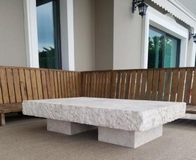 Casa Padrino Luxus Couchtisch Weiß 110 x 70 x H. 35 cm - Moderner Marmor Wohnzimmertisch - Luxus Marmor Wohnzimmer Möbel - Vorschau 2