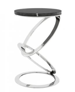 Casa Padrino Luxus Art Deco Designer Beistelltisch mit Marmorplatte 40 x H. 62 cm - Hotel Tisch Möbel