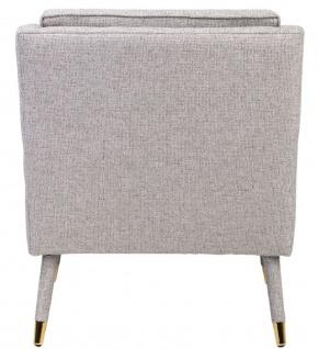 Casa Padrino Luxus Sessel Grau / Gold 76 x 88 x H. 89 cm - Wohnzimmer Sessel im Neoklassichen Stil - Designer Wohnzimmermöbel - Vorschau 4