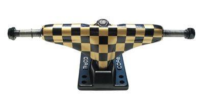 Core Skateboard Achsen Set 5.0 checkered gold/schwarz (2 Achsen)