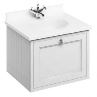 Casa Padrino Luxus Hänge-Waschschrank / Waschtisch mit Marmorplatte und Schublade 66 x 55 x H. 59 cm