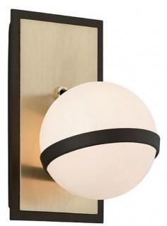 Casa Padrino Luxus LED Wandleuchte Bronze / Messing / Weiß 13, 3 x 15, 9 x H. 22, 9 cm - Hotel & Restaurant Lampe