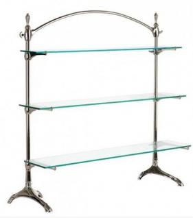 Casa Padrino Luxus Glas Regal System vernickelt - Luxury Collection