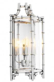 Casa Padrino Luxus Wandleuchte Silber 30, 5 x 15 x H. 52, 5 cm - Limited Edition
