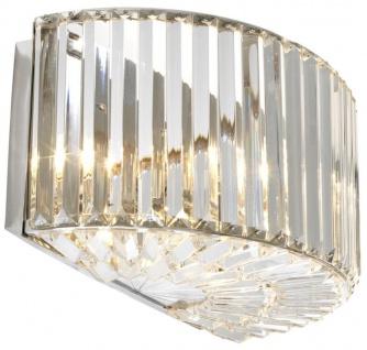 Casa Padrino Wandleuchte in silber mit klarem Glas 42 x 23 x H. 20 cm - Luxus Qualität