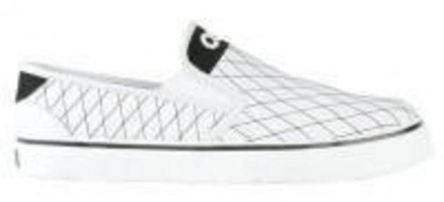 Osiris Skateboard Schuhe / Slip On Scoop White/Black