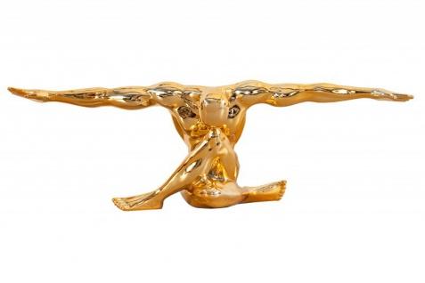 Casa Padrino Art Deco Figur Muskelathlet Gold - Muskel Athlet Figur Skulptur