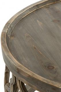 Casa Padrino Designer Couchtisch Braun Ø 80 x H. 37 cm - Moderner Runder Holz Wohnzimmertisch - Vorschau 2