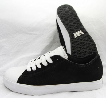 SUPRA Skateboard Styler Schuhe Thunder Low Black/White