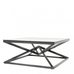 Casa Padrino Luxus Couchtisch Edelstahl Bronze Finish 100 x 100 x H. 45 cm - Wohnzimmer Tisch Möbel