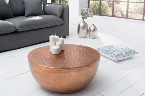 Casa Padrino Luxus Couchtisch kupfer 68 cm Aluminium - Wohnzimmer Salon Tisch - Unikat - Vorschau 5