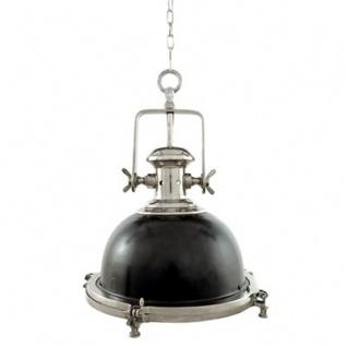 Casa Padrino Industrie Leuchte - Luxus Edelstahl Hängeleuchte vernickelt 45 x 65 cm