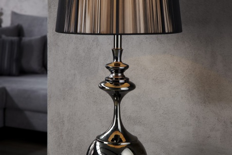 Casa Padrino Barock Stehleuchte schwarz 1-Flammig - Leuchte Lampe - Vorschau 3