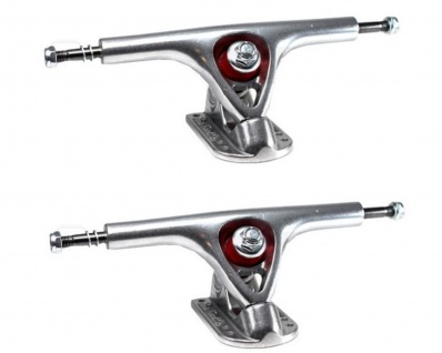 PARIS Longboard Achsen Set 180mm Silber (2 Achsen) Trucks Longboard Truck Set Silver - Profi Achsen