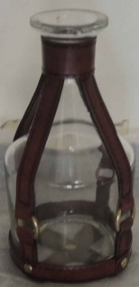Casa Padrino Luxus Glas Karaffe / Weinkaraffe Cognac Braun Ø 10 x H. 23 cm - Luxus Kollektion