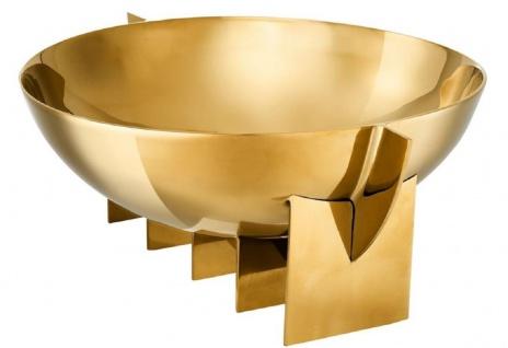 Casa Padrino Luxus Edelstahl Schale Gold 30 x 25 x H. 11, 5 cm - Obstschale Schüssel - Hotel & Restaurant Deko Accessoires - Vorschau 3