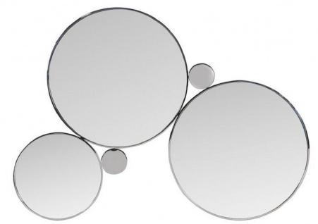 Casa Padrino Designer Wandspiegel Silber 167 x H. 121 cm - Edelstahl Spiegel - Luxus Wohnzimmer Spiegel