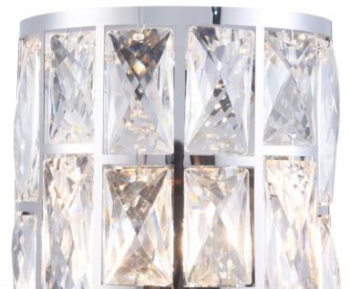 Casa Padrino Luxus Wandleuchte Silber 14, 7 x 10 x H. 21, 2 cm - Elegante Wandlampe mit Kristallglas - Vorschau 3