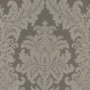 Casa Padrino Barock Textiltapete Grau 10, 05 x 0, 53 m - Luxus Wohnzimmer Tapete