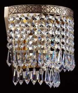 Casa Padrino Barock Kristall Wandleuchten Gold 18, 5 x H 18, 5 cm Antik Stil - Wandlampe Wand Beleuchtung